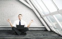 Meditazione dell'uomo d'affari Fotografie Stock