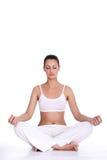 Meditazione della donna Fotografie Stock