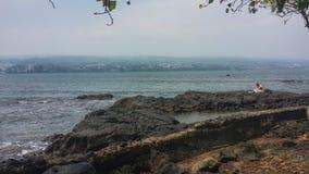 Meditazione della linea costiera Immagine Stock