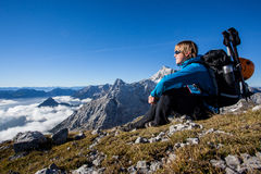 Meditazione della montagna Immagini Stock Libere da Diritti