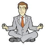 Meditazione di affari Immagine Stock
