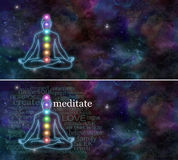 Meditazione di Chakra Fotografie Stock Libere da Diritti