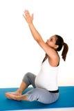 Meditazione di forma fisica di Pregancy Fotografie Stock