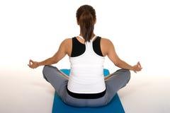 Meditazione di forma fisica di Pregancy Immagini Stock Libere da Diritti