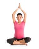 Meditazione di maternità di yoga Fotografie Stock Libere da Diritti