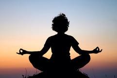 Meditazione di sera Fotografia Stock