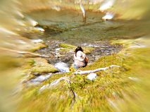 Meditazione di Streamside Fotografia Stock
