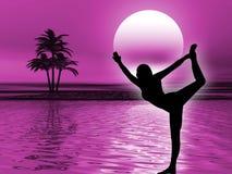 Meditazione di yoga illustrazione di stock
