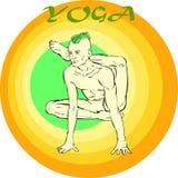 Meditazione di yoga: Asana Fotografia Stock Libera da Diritti