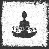 Meditazione di yoga illustation di vettore Illustrazione Vettoriale