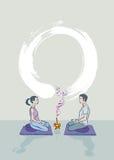 Meditazione di zen Immagini Stock