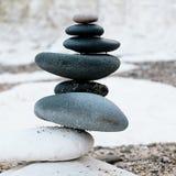Meditazione di zen alla costa orientale Inghilterra di Flamborough Yorkshire immagine stock libera da diritti