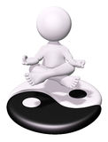 Meditazione e Yin Yang Immagini Stock Libere da Diritti