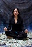 Meditazione finanziaria Fotografia Stock Libera da Diritti