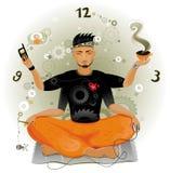 Meditazione moderna. illustrazione di stock