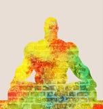 Meditazione muscolare dell'uomo Fotografie Stock Libere da Diritti