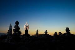 Meditazione orientale di yoga su Tenerife Immagine Stock Libera da Diritti