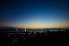 Meditazione orientale di yoga su Tenerife Fotografie Stock