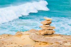 Meditazione, rilassamento, o concetto dell'equilibrio di vita Immagine Stock