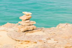 Meditazione, rilassamento, o concetto dell'equilibrio di vita Fotografia Stock Libera da Diritti