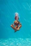 Meditazione subacquea Immagine Stock