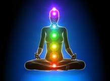 Meditazione - Chakras Immagini Stock