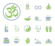 Meditazione & yoga - Iconset - icone royalty illustrazione gratis