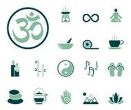 Meditazione & yoga - Iconset - icone illustrazione di stock