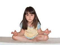 Medite a la muchacha Fotografía de archivo