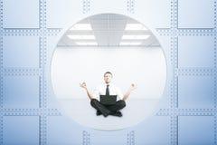 Meditera affärsman Arkivbilder