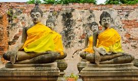 Meditera buddha Arkivbilder
