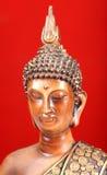 Meditera buddha vända mot Arkivbild