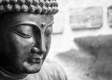 Meditera den japanska Buddhastatyn Royaltyfri Fotografi