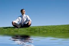 meditera för affärsman fotografering för bildbyråer