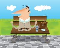 Meditera för affärsman Stock Illustrationer