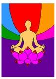 meditera för man Royaltyfria Bilder