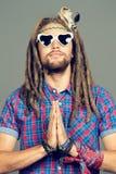 Meditera hippie Arkivfoto