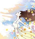 meditera kvinna Royaltyfria Foton