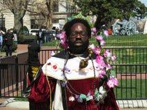Meditera mannen på Whitehousen Fotografering för Bildbyråer