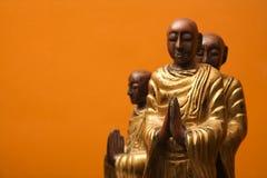 meditera statyer royaltyfri foto