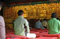 meditera tempelet Arkivbild