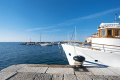 Mediteraenian fishing port in Opatija Royalty Free Stock Photo
