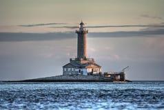 Mediteran Хорватии Адриатического моря маяка Porer Стоковое Изображение