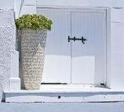 mediteranean入口的房子 图库摄影
