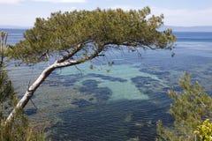 mediteranean панорамный взгляд моря Стоковые Фотографии RF