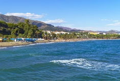 Mediterranean coast, Marbella, Spain Stock Images