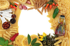 Mediteranean Food Border Stock Photo