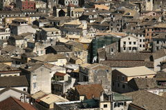 Mediteranean old town. Panorama of the mediteranean old town stock photography