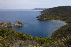mediteranean panoramiczny denny widok Zdjęcie Royalty Free