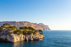 Mediteranian峭壁 图库摄影